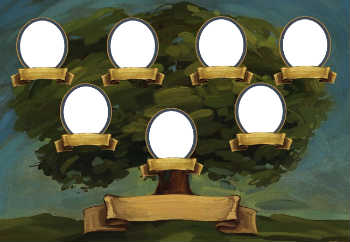 Family Tree Template PSD