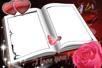 Надпись бери рамке: I love you