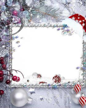 Готовые красочные рамки для поздравлений с новым годом